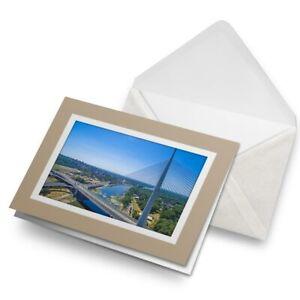 Greetings-Card-Biege-Ada-Bridge-Belgrade-Serbia-21104