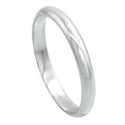 2mm Men /& Women Sterling Silver High DOME Wedding Band Thumb Toe Ring