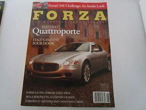 FORZA-MAGAZINE-FERRARI-Issue-54-June-2004-348-Challenge-Maserati-Quattroporte