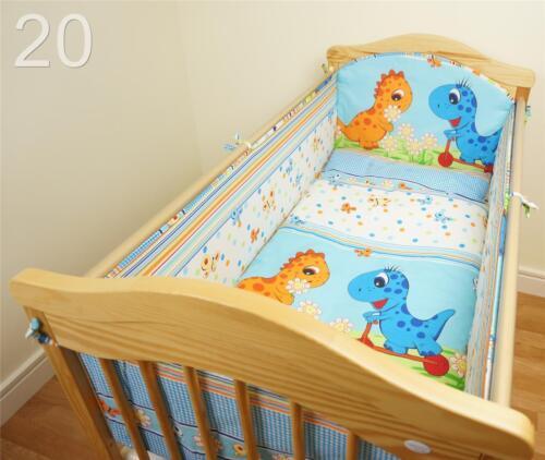 Lang Rundum Gitterbett Nestchen Größen passend für Baby Kinderzimmer//Kleinkind