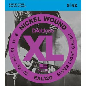 d 39 addario exl120 electric guitar strings 9 42 professional quality great price ebay. Black Bedroom Furniture Sets. Home Design Ideas