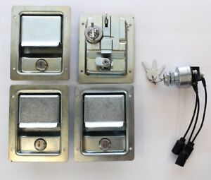 DUAL HUMVEE SECURITY KIT - Chrome Locking Door Handles & Keyed ...