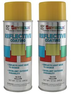 Details about Seymour 16-516 Reflective Water-Based Coatings Spray Paint,  Yellow - 2/Pack