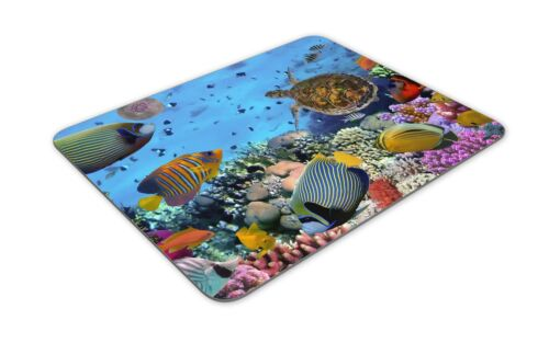 Fish Aquarium Tropical Sea Fun Gift PC Computer #8475 Coral Reef Mouse Mat Pad