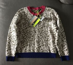 Nwt About M Details Sz Blend Print Sweater Viscose Abstract Sweatshirt Msgm 9WDHIE2