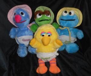 Big Bird Sesame Street 80s vintage kids rain boots size 10 11 Muppets