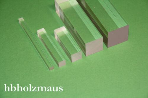 29,99€//m Acrylglas PLEXIGLAS® Vierkantstab 30 x 30 mm Länge wählbar
