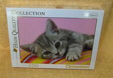 PUZZLE 500 pz CLEMENTONI n° 30362 GREY KITTEN cod.18193