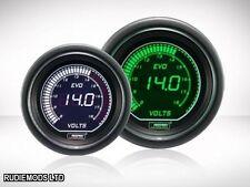 Prosport 52mm Evo coche Voltaje Calibre 8-18v Verde Blanco Lcd Pantalla Digital