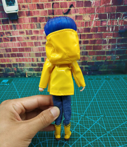 1:12  Yellow Coraline Raincoat Ver PVC Action Figure Model Bendy Doll F Collect