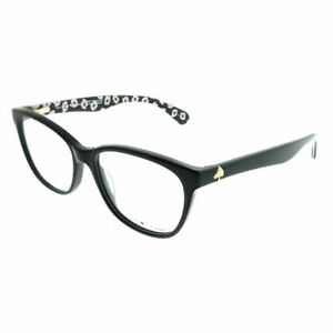 Kate-Spade-KS-Atalina-7RM-Black-on-Pattern-Plastic-Rectangle-Eyeglasses-51mm