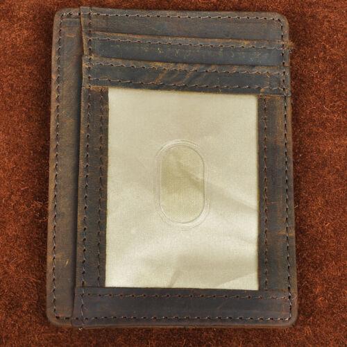 Real Leather RFID Blocking Minimalist Card Case Holder Slim Wallet Front Pocket