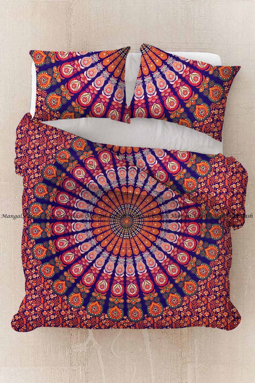 Indian duvet doona cover cotton mandala comforter cover bedding set quilt cover