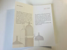Booklet VENINI - Tapio Wirkkala - Italian & English - For Collectors