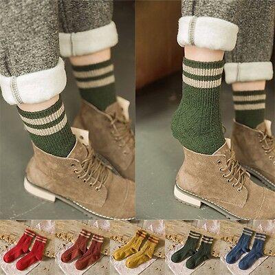 Retro Women Ankle Socks Ladies Casual Cotton Socks Cute Striped High Socks 5Pair