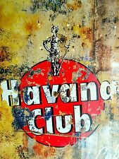 Retro aluminium signs - Havana Club Vintage Drink Bottle Alcohol