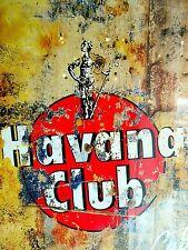 Retro aluminium signs - Havana Club Vintage Drink Bottle Alcohol