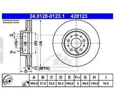 ATE 24.0128-0123.1 Bremsscheibe 2 Stück