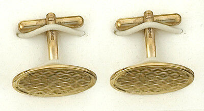 Men's Jewelry Hot Sale Cufflinks Yellow Gold Wicker Design Hanmade Hallmarked Agreeable To Taste Jewelry & Watches