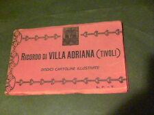 Ricordo di Villa Adriana Tivoli Dodici Cartoline illustrate 1930s?   ed7
