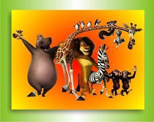 leinwandbild madagascar film bild auf leinwand wandbild keilrahmenbild poster ebay. Black Bedroom Furniture Sets. Home Design Ideas