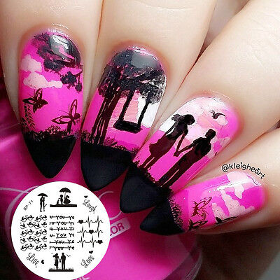 BORN PRETTY BP71 Nail Image Stamping Plates Manicure Nail Art Stamp Template DIY