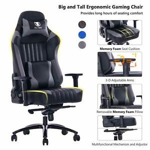 Killabee Big And Tall 400lb Memory Foam Gaming Chair With