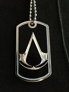 Assassins Creed Dog Tag Necklace