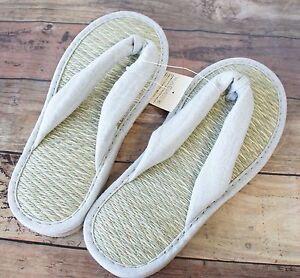 f350afd6f MUJI Tatami Rush Igusa grass Cushion Zori Sandals Slippers Summer ...