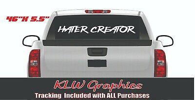 HATER CREATOR Vertical Pillar Windshield Vinyl Decal Sticker Panty Car Boosted Diesel JDM Hated