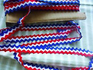 Neuf Galon Coton Pour Cocarde Ou Autre ...mercerie Ancienne Bleu-blanc-rouge Ty0a8fgi-08004327-990667850