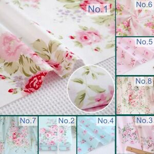 Yard-Shabby-Chic-Cottage-Floral-Flower-Rose-Pink-Blue-100-Cotton-Craft-Fabric