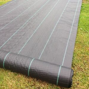 2m Wide 100gsm Weed Control Fabric Ground Cover Garden Membrane HEAVY DUTY mulch