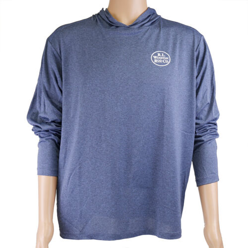 Free Shipping Details about  /Winston Trout Tech Hooded Fishing Shirt All Sizes Navy Blue