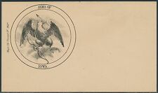 "#ST-135 UNION CIVIL WAR PATRIOTIC COVER ""ARMS OF IOWA"" BR8792"