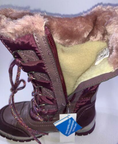 Puccetti Kids 586140100 Girls Purple Water Repellent Winter Boots
