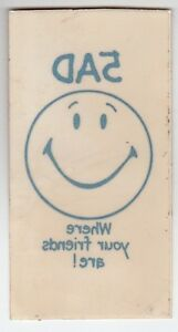 1971-5AD-RADIO-WHERE-YOUR-FRIENDS-ARE-Promo-WINDOW-STICKER-Vintage-S-A-VG
