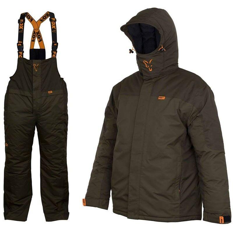 Fox CARP inverno SUIT Tg. XXL thermoanzug TUTA INVERNO 2 Pezzi Giacca Pantaloni e patta