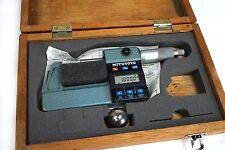 "Mitutoyo Outside Digital Micrometer 293-312 1-2"", 0.0001"" Grad Carbide ends"