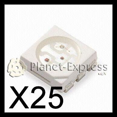 25 x Led SMD 5050 RGB Ideal para hacer iluminación de cualquier manera!!!