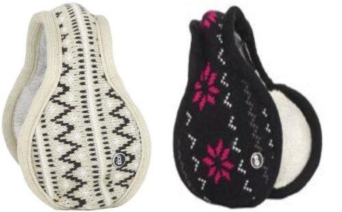 180s Women/'s Adjustable Teton Knit Ear Warmer Earmuffs Muff New!!