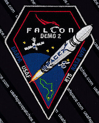 NEW STP-2 SPACEX FALCON HEAVY 3-5 SLS ORIGINAL USAF DOD SATELLITE Launch PATCH