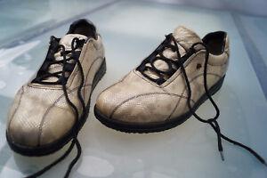 FINN-COMFORT-Damen-Schuhe-Schnuerschuhe-Gr-40-5-UK-7-Schlangenoptik-Leder