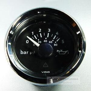 VDO-OLDRUCKANZEIGER-DRUCKANZEIGER-5-bar-80psi-OIL-PRESSURE-GAUGE-12V-Chrom