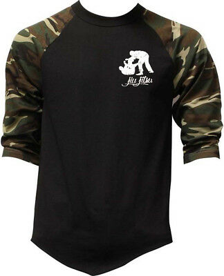 Men/'s Muay Thai Stars Camo Baseball Raglan T Shirt MMA Fighting Martial Arts BJJ