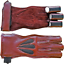 thumbnail 3 - 3 Finger American Archers Leather Right Hand Glove in 3 colors And In All Sizes