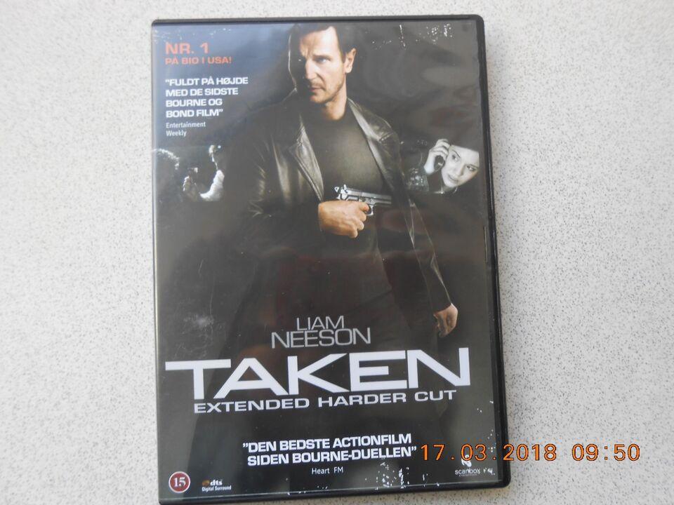 Taken externed Harder Cut, instruktør Liam Neelson, DVD