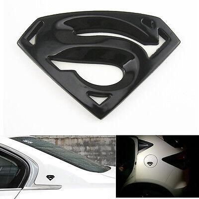 Black Metal 3D Superman Superhero Emblem Sticker Badge For Car Truck SUV Pickup