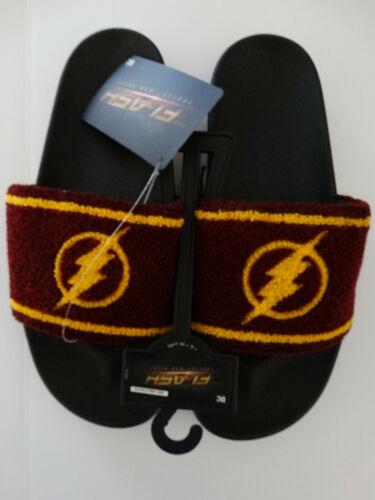 The Flash Logo DC Comics Adult Flip Flops Slide Sandal