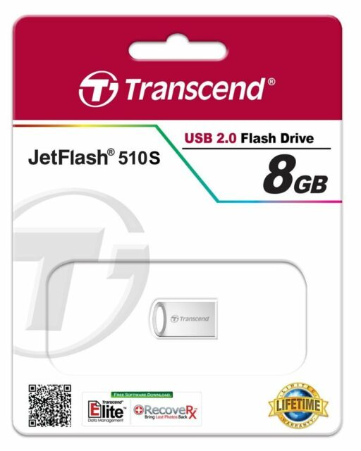 8gb USB STICK Transcend  ca.22mm Mini Micro Nano 8GB Fortuna Trade TS8GJF510S